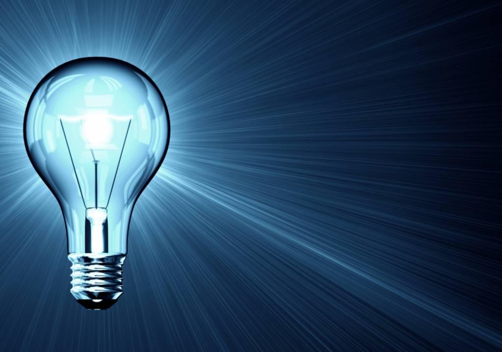 shiny light bulb