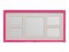 rama foto roz vibrant cu decoratiuni pe colturi