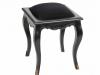 scaun glamour negru din lemn si catifea cu accente auri